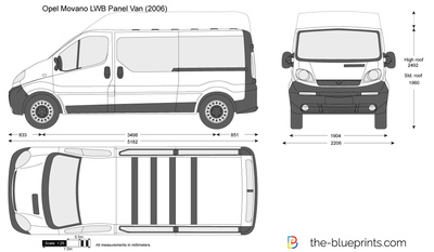 opel vivaro lwb panel van vector drawing. Black Bedroom Furniture Sets. Home Design Ideas