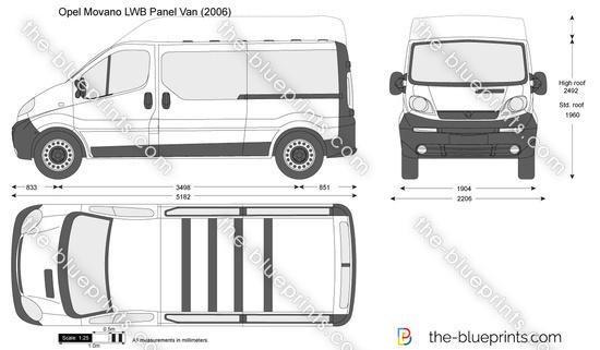 the vector drawing opel vivaro lwb panel van. Black Bedroom Furniture Sets. Home Design Ideas
