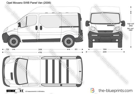 the vector drawing opel vivaro swb. Black Bedroom Furniture Sets. Home Design Ideas