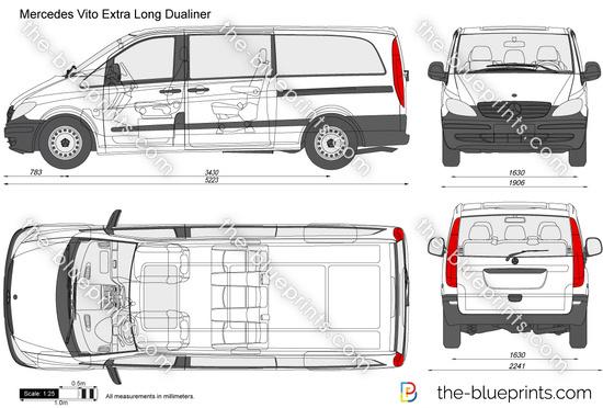 the vector drawing mercedes benz vito. Black Bedroom Furniture Sets. Home Design Ideas