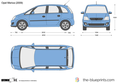 blueprints cars opel opel meriva 2007. Black Bedroom Furniture Sets. Home Design Ideas