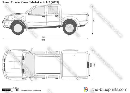 Nissan Frontier Crew Cab 4x4 look 4x2