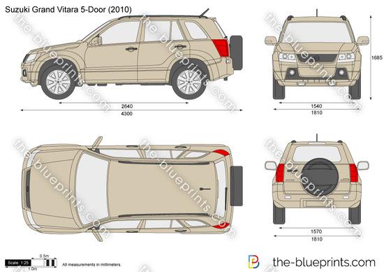the vector drawing suzuki grand vitara 5 door. Black Bedroom Furniture Sets. Home Design Ideas