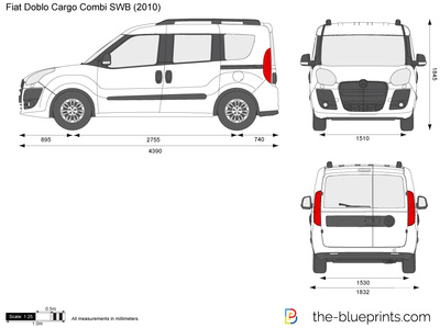the vector drawing fiat doblo cargo combi swb. Black Bedroom Furniture Sets. Home Design Ideas