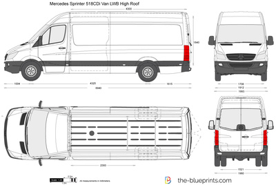 Mercedes-Benz Sprinter 518CDi Van LWB High Roof
