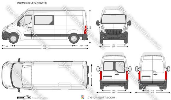 Opel Movano L3 H2 H3