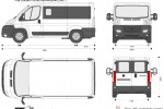 Fiat Ducato Combi half-window