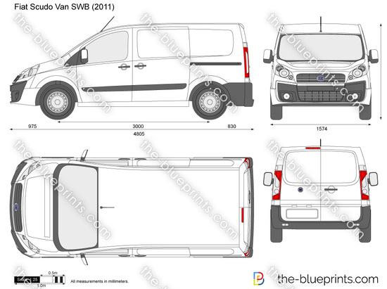 the vector drawing fiat scudo van. Black Bedroom Furniture Sets. Home Design Ideas