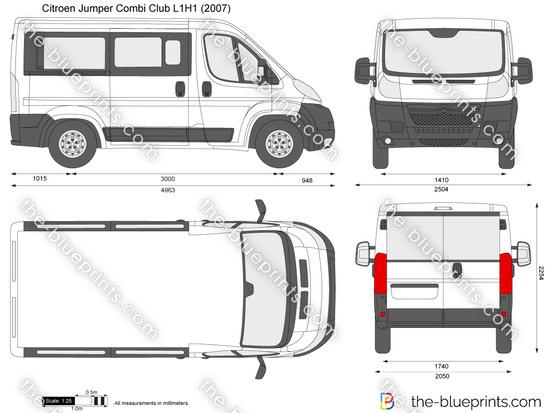 the vector drawing citroen jumper combi club l1h1. Black Bedroom Furniture Sets. Home Design Ideas
