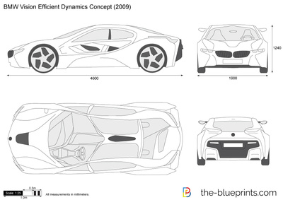 BMW Vision Efficient Dynamics Concept vector drawing
