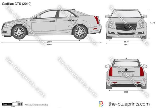 Cadillac CTS vector drawing