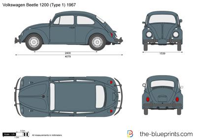 Volkswagen Beetle 1200 (Type 1) (1967)