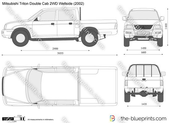 Mitsubishi Triton Double Cab 2WD Wellside