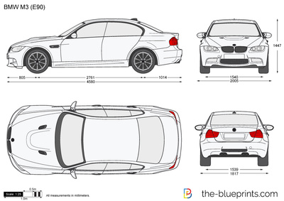 Bmw M3 E90 Vector Drawing