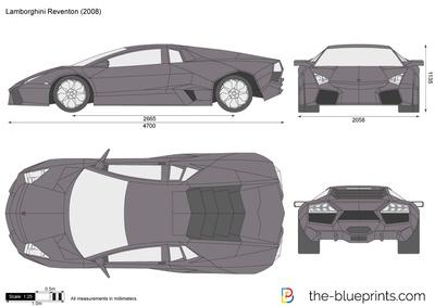 Lamborghini Reventon Vector Drawing