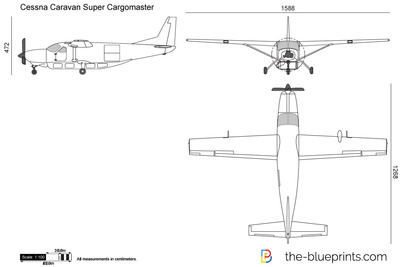 cessna 208 caravan super cargomaster vector drawing. Black Bedroom Furniture Sets. Home Design Ideas