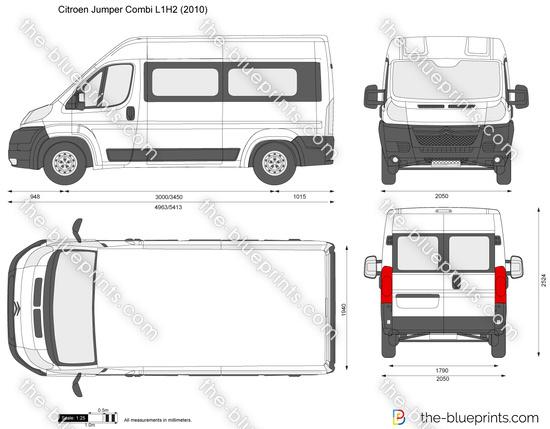 the vector drawing citroen jumper combi l1h2. Black Bedroom Furniture Sets. Home Design Ideas