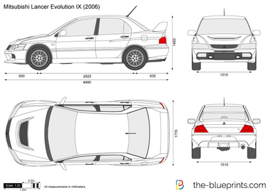 Blueprints cars mitsubishi mitsubishi lancer evolution ix mitsubishi lancer evolution ix malvernweather Image collections