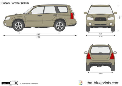 Subaru Forester Vector Drawing