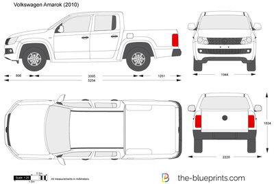 Volkswagen Amarok Vector Drawing