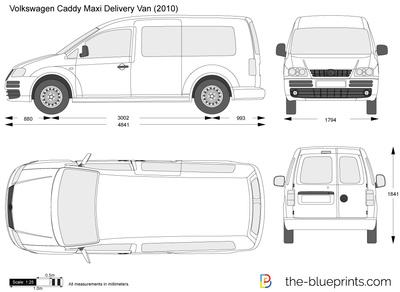 the vector drawing volkswagen caddy maxi delivery van. Black Bedroom Furniture Sets. Home Design Ideas
