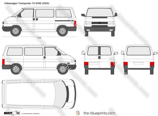 the vector drawing volkswagen transporter t4 swb. Black Bedroom Furniture Sets. Home Design Ideas