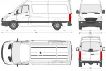Mercedes-Benz Sprinter 209CDi Van MWB High Roof