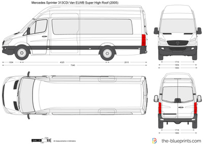 Mercedes-Benz Sprinter 313CDi Van ELWB Super High Roof