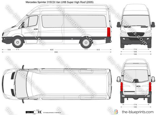 Mercedes-Benz Sprinter 315CDi Van LWB Super High Roof