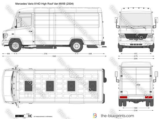 Mercedes-Benz Vario 814D High Roof Van MWB