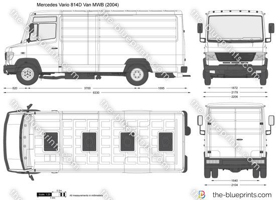 Mercedes-Benz Vario 814D Van MWB