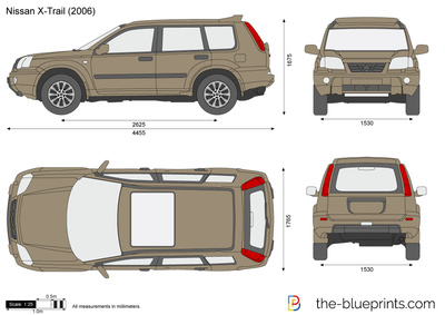 blueprints cars nissan nissan x trail 2005. Black Bedroom Furniture Sets. Home Design Ideas