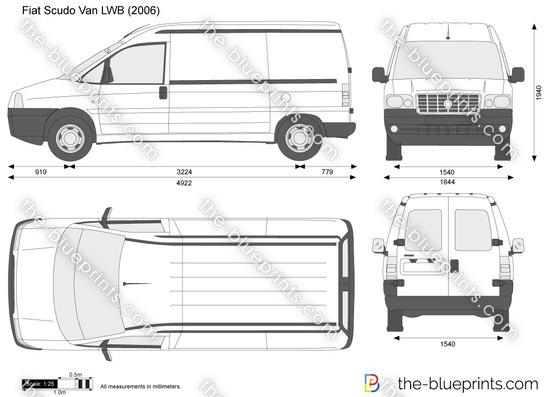 the vector drawing fiat scudo van lwb. Black Bedroom Furniture Sets. Home Design Ideas