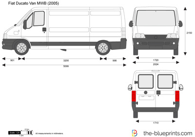 fiat ducato van mwb vector drawing. Black Bedroom Furniture Sets. Home Design Ideas