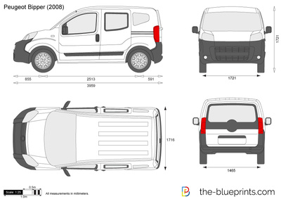 Peugeot Bipper Vector Drawing