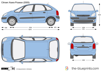 the blueprints voitures citroen citroen xsara picasso. Black Bedroom Furniture Sets. Home Design Ideas