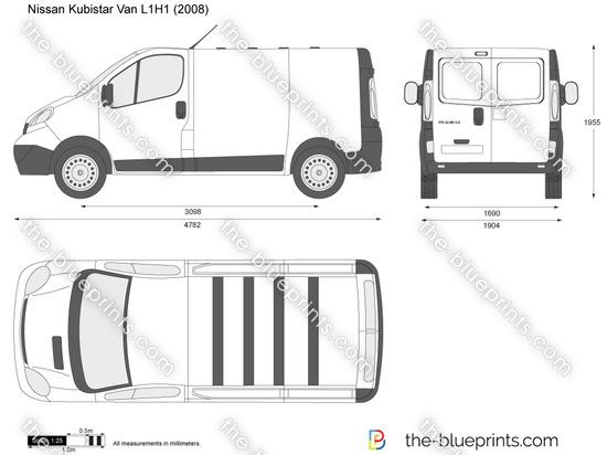 nissan primastar van l1h1 vector drawing. Black Bedroom Furniture Sets. Home Design Ideas