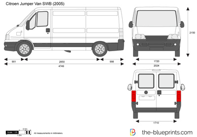 the vector drawing citroen jumper van swb. Black Bedroom Furniture Sets. Home Design Ideas