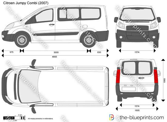 the vector drawing citroen jumpy combi. Black Bedroom Furniture Sets. Home Design Ideas