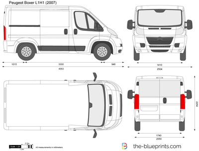peugeot boxer l1h1 vector drawing. Black Bedroom Furniture Sets. Home Design Ideas
