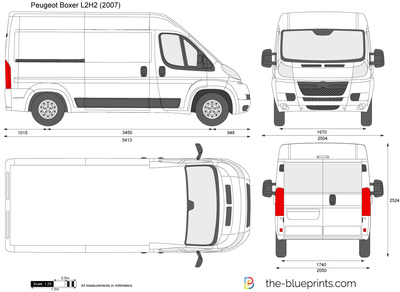 peugeot boxer l2h2 vector drawing. Black Bedroom Furniture Sets. Home Design Ideas