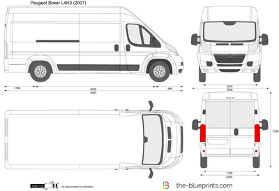 peugeot boxer l4h3 vector drawing. Black Bedroom Furniture Sets. Home Design Ideas