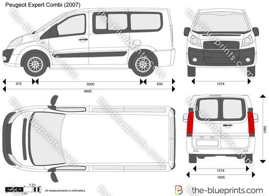 the vector drawing peugeot expert combi. Black Bedroom Furniture Sets. Home Design Ideas