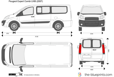 peugeot expert combi lwb vector drawing. Black Bedroom Furniture Sets. Home Design Ideas