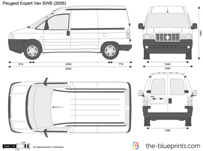 peugeot expert van swb vector drawing. Black Bedroom Furniture Sets. Home Design Ideas
