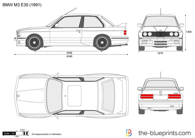 Bmw M3 E30 Vector Drawing