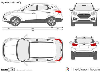hyundai ix35 tucson vector drawing. Black Bedroom Furniture Sets. Home Design Ideas
