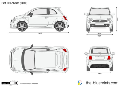 Blueprints Cars Fiat Fiat 500 Abarth 2009