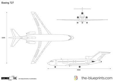 Boeing 727 Vector Drawing