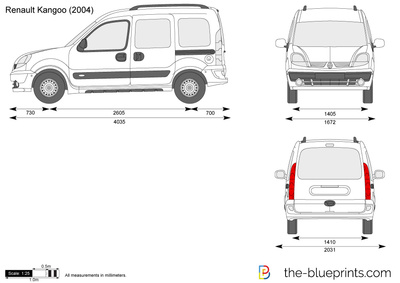 the vector drawing renault kangoo. Black Bedroom Furniture Sets. Home Design Ideas